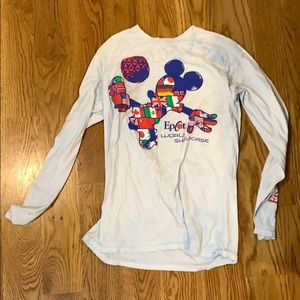 White Disney Epcot world showcase shirt